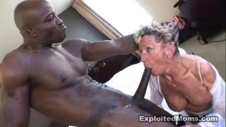 Old Granny Takes a Massive Black Cock in Her Ass Anal Interracial Video