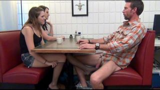 D Gives Footjob & Bj to Pappy Under the Table