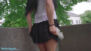 Outside Agent Lexi Dona Flashes Her Vagina for a Load of Cash